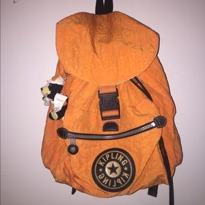 Orange Kipling Backpack